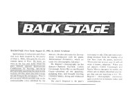 """Backstage (New York) 1982: """"The obvious relish that only a creator can bring to his words .... punching pulsating lines."""""""