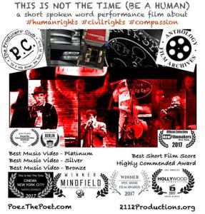 Flyer for Poez documentary used in international film festivals