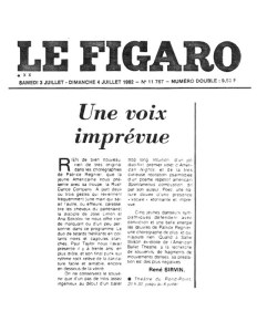 """Le Figaro (Paris) 1982: """"'Spontaneous Combustion, dit par son auteur, Poez, une nature douee d'une 'presence vocale' etonnante et imprevue."""""""