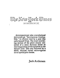 "New York Times 1983: ""A sonic fantasia"""
