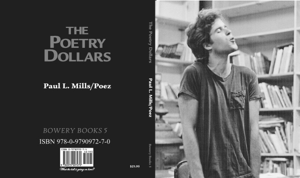 "Cover to Bowery Poetry Books publication, ""The Poetry Dollars"" by Paul Mills aka Poez"