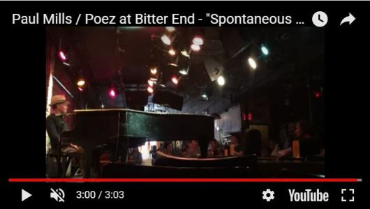 "Poez performs ""Spontaneous Combustion"" solo at The Bitter End, Greenwich Village."